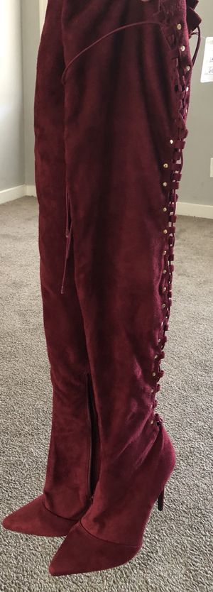 Thigh high strung up back women boot size 9 for Sale in Baltimore, MD
