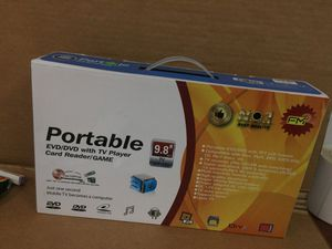 PORTABLE EVD/DVD EITH TV PLAYER CARD READER/GAME for Sale in Miami, FL