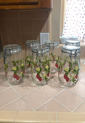 Set of canning jars/canisters for Sale in La Habra Heights, CA
