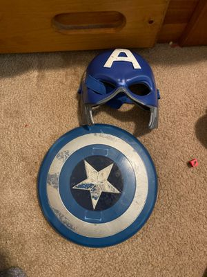 Captain America mask and shield for Sale in National City, CA