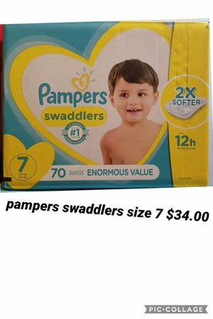pampers swaddlers size 7 for Sale in Los Angeles, CA