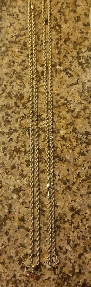 real 10k gold chain set or individual for Sale in Beverly Hills, CA