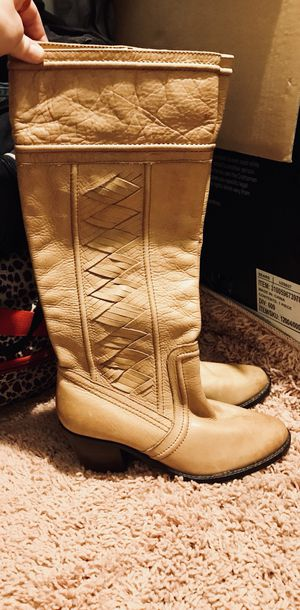 Genuine leather Fossil brand camel boots for Sale in San Diego, CA