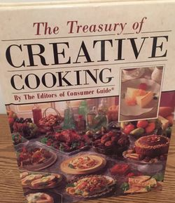 The Treasury of Creative Cooking - gold bound for Sale in Philadelphia,  PA