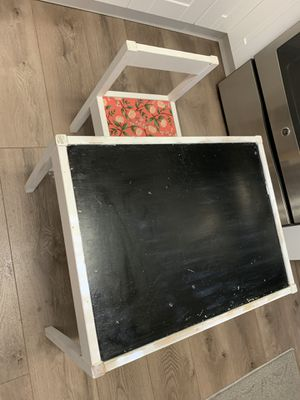 IKEA kids table with one chair it's for $15 for Sale in Portland, OR