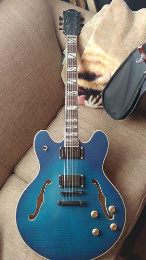 Blue 335 semi hollow electric guitar for Sale in Los Osos, CA