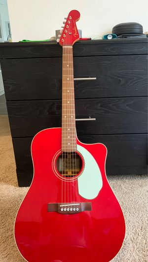 Cherry Red Fender Acoustic-Electric for Sale in Davenport, FL