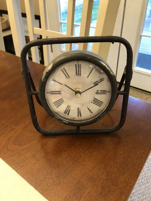Distressed antique style table clock for Sale in Kirkland, WA
