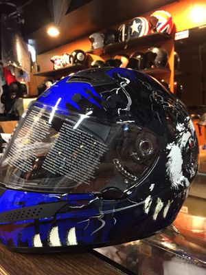Blue and black dot motorcycle helmet $80 for Sale in Whittier, CA