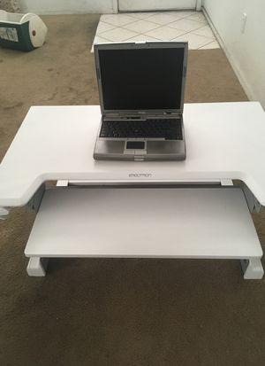 Computer desk extender Ergotron white desk for Sale in Henderson, NV