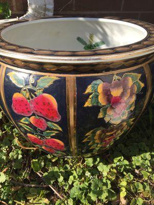 Rare cracked orchid pot for Sale in Burr Ridge, IL
