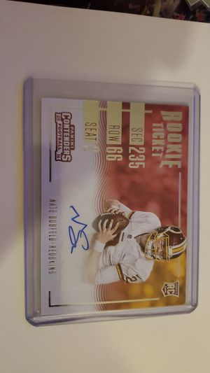 2016 Panini Contenders Nate Sudfeld Auto Rookie Ticket Variation for Sale in Glendale, AZ