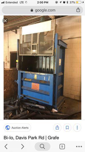 "MSI Cardboard or Aluminum 60"" Compactor Baler for Sale in Penhook, VA"