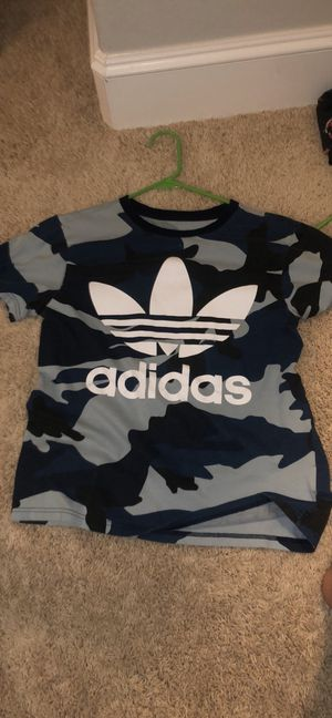 Adidas Blue Camo T-Shirt for Sale in Porter, TX