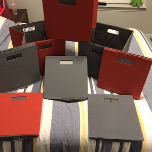 Shelf Organizer Bins (redX4) (grayX4) for Sale in Katy, TX