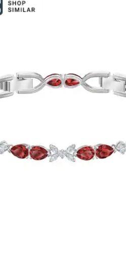 Swarovski Crystal Louison Scarlet Red Rhodium-Plated Bracelet for Sale in Kirkland,  WA
