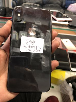 iPhone X 64Gb unlocked for Sale in The Bronx, NY