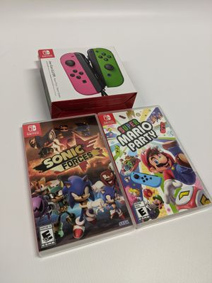 Nintendo Switch Joy-Con, Mario Party, Sonic Forces Bundle for Sale in Kernersville, NC