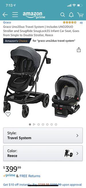 Grace uno2duo stroller for Sale in Hayward, CA