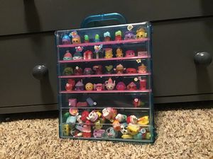 78 shopkins with display case for Sale in New Braunfels, TX