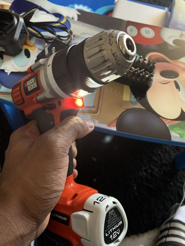 Black & Decker 12V Lithium Drill LDX112 Type 1 10mm, W/LB12 Battery, W/ charger