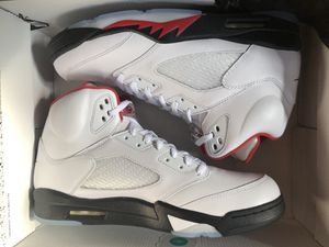Jordan 5 fire red retro Nike silver tongue size 11 13 for Sale in Rockville, MD