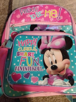 Minnie backpack and lunch box for Sale in Colorado Springs, CO
