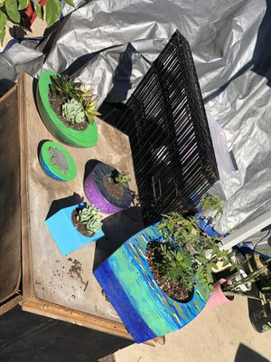 Home made cement flower pots for Sale in Chula Vista, CA