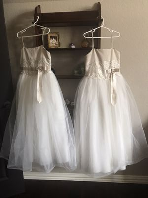 Size 7 and size 8 flower girl dresses for Sale in Colleyville, TX