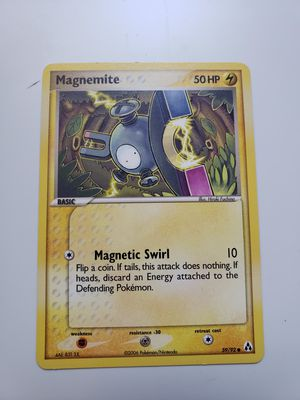 1x. 2006 POKEMON NINTENDO Trading Card Basic MAGNEMITE 59/92 hp50 RARE. for Sale in Takoma Park, MD