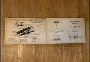 Vintage Wright Brothers Patent Framed Canvas Print for Sale in Chicago, IL
