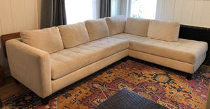 Beige microfiber sectional couch! Great condition! for Sale in Fort Worth, TX