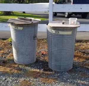 40 gl galvanized feed barrels for Sale in Milton, WA