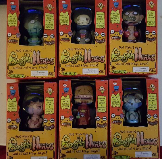 Gus Fink's Boogily Heads Series 2 complete set