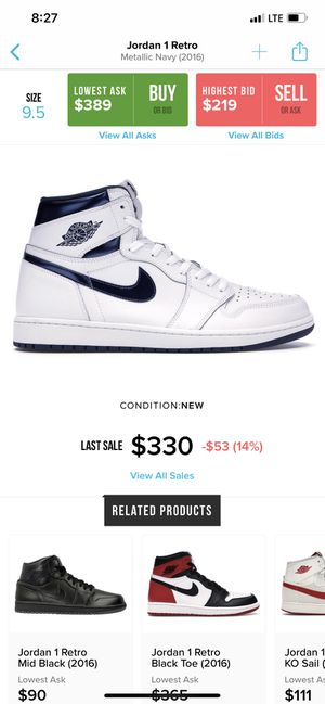 Jordan 1 metallic navy blue for Sale in Cerritos, CA