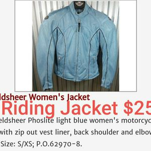 Fieldsheer Womens Motorcycle Jacket $25. Size S/XS for Sale in Lewis Center, OH