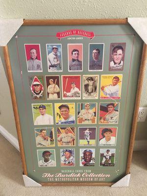 Legends of baseball Cards large framed print for Sale in San Jose, CA