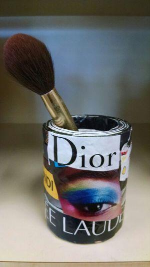 Handmade magazine art makeup brush decanter for Sale in North Royalton, OH