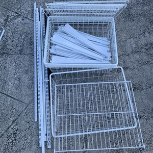 ClosetMaid Self Track 4 Drawer Kit In White for Sale in Boca Raton, FL
