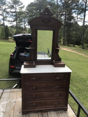 Antique Dresser w Old letter will need a piece of glass for Sale in Fairburn, GA