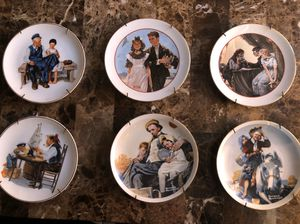 Norman Rockwell Young Love Series And Misc The CW Collection 1980s Set of Six (6)Plates for Sale in Hayward, CA