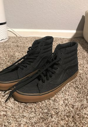Vans highs 10 dark grey/black shoes for Sale in Westminster, CO