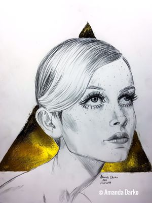 Twiggy Lawson Drawing for Sale in Warner Robins, GA