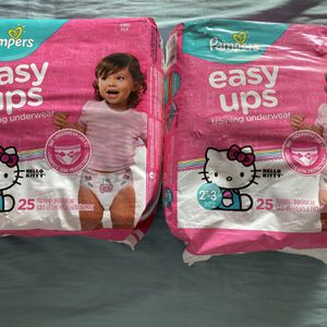 Pampers Easy Ups 2t-3t 2 For $15 for Sale in Huntington Beach, CA