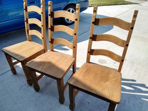 Wooden chairs made in Brazil. for Sale in Round Rock, TX