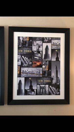 New York framed picture art for Sale in Hollywood, FL