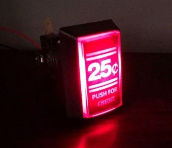 Arcade coin button MAME Jamma RetroPIE LED illuminated 12v