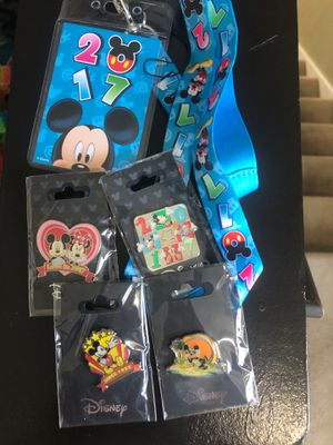 Disney world lanyard and collectible pins for Sale in Downers Grove, IL