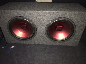 "2 10"" Sub Woofer With Box for Sale in Chicago, IL"