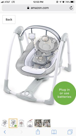 Ingenuity power adapter portable swing for Sale in Annandale, VA
